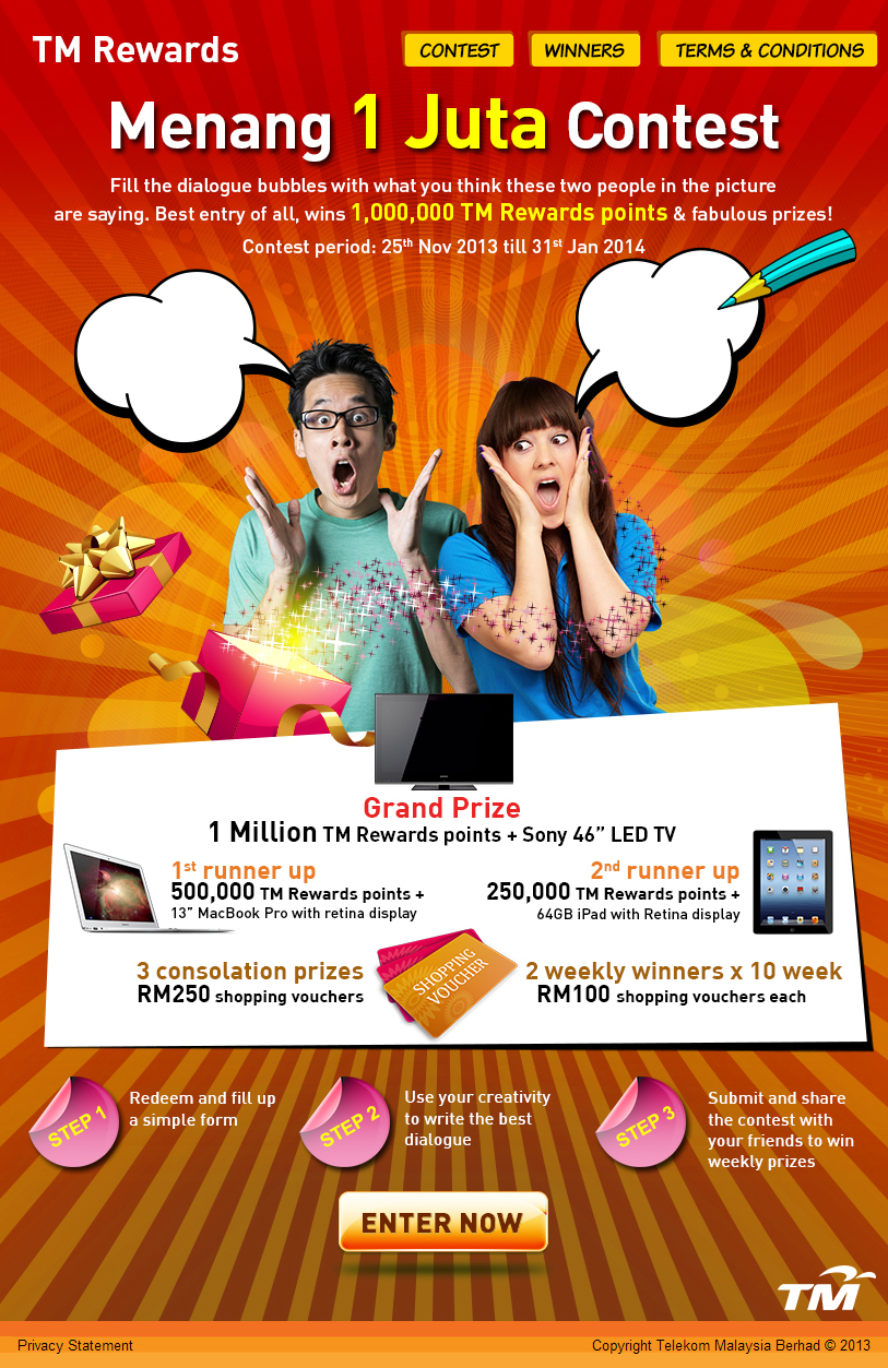 TM Rewards Menang 1 Juta Facebook Contest