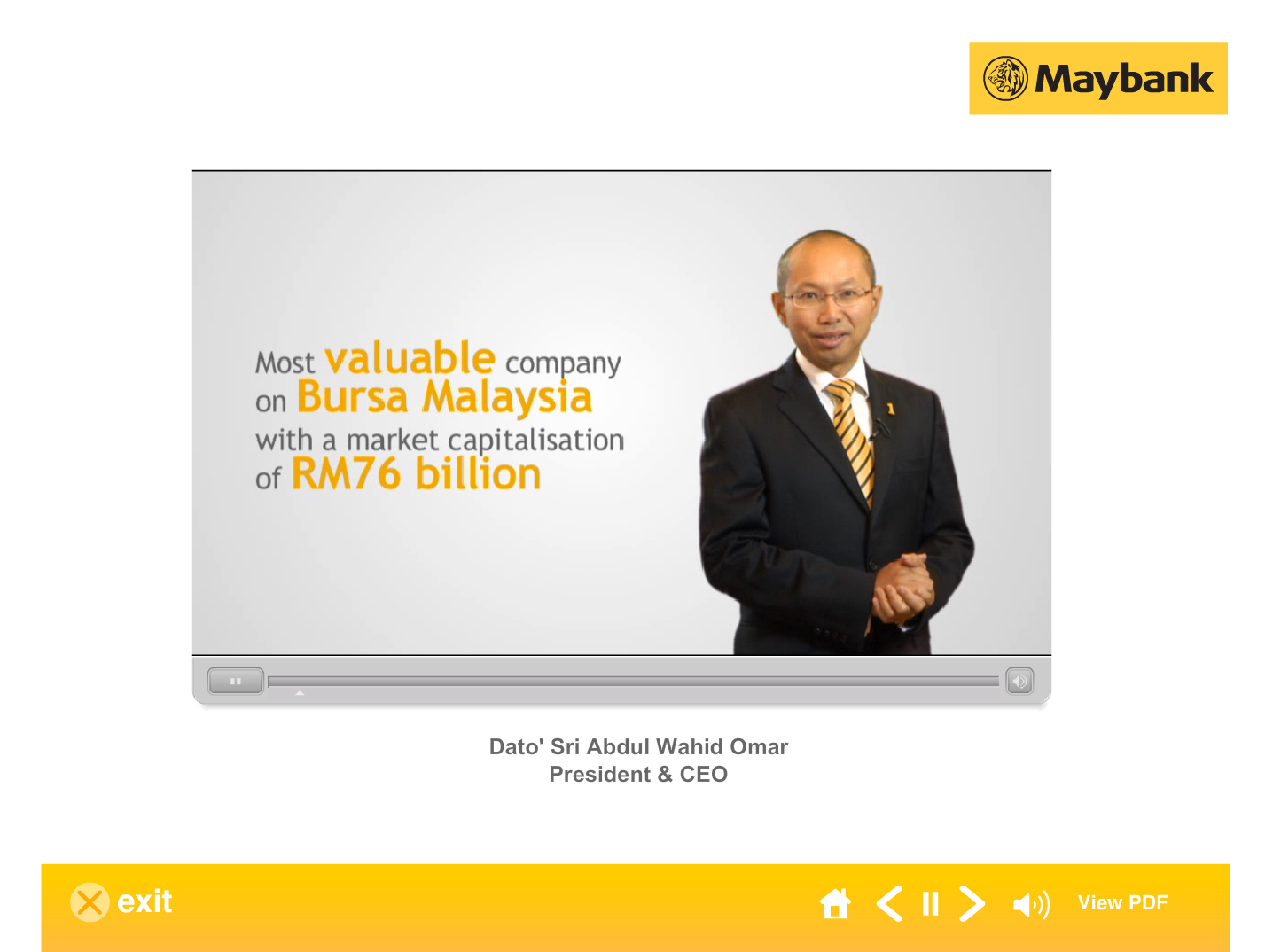Maybank Annual Report 2012 Interactive Multimedia