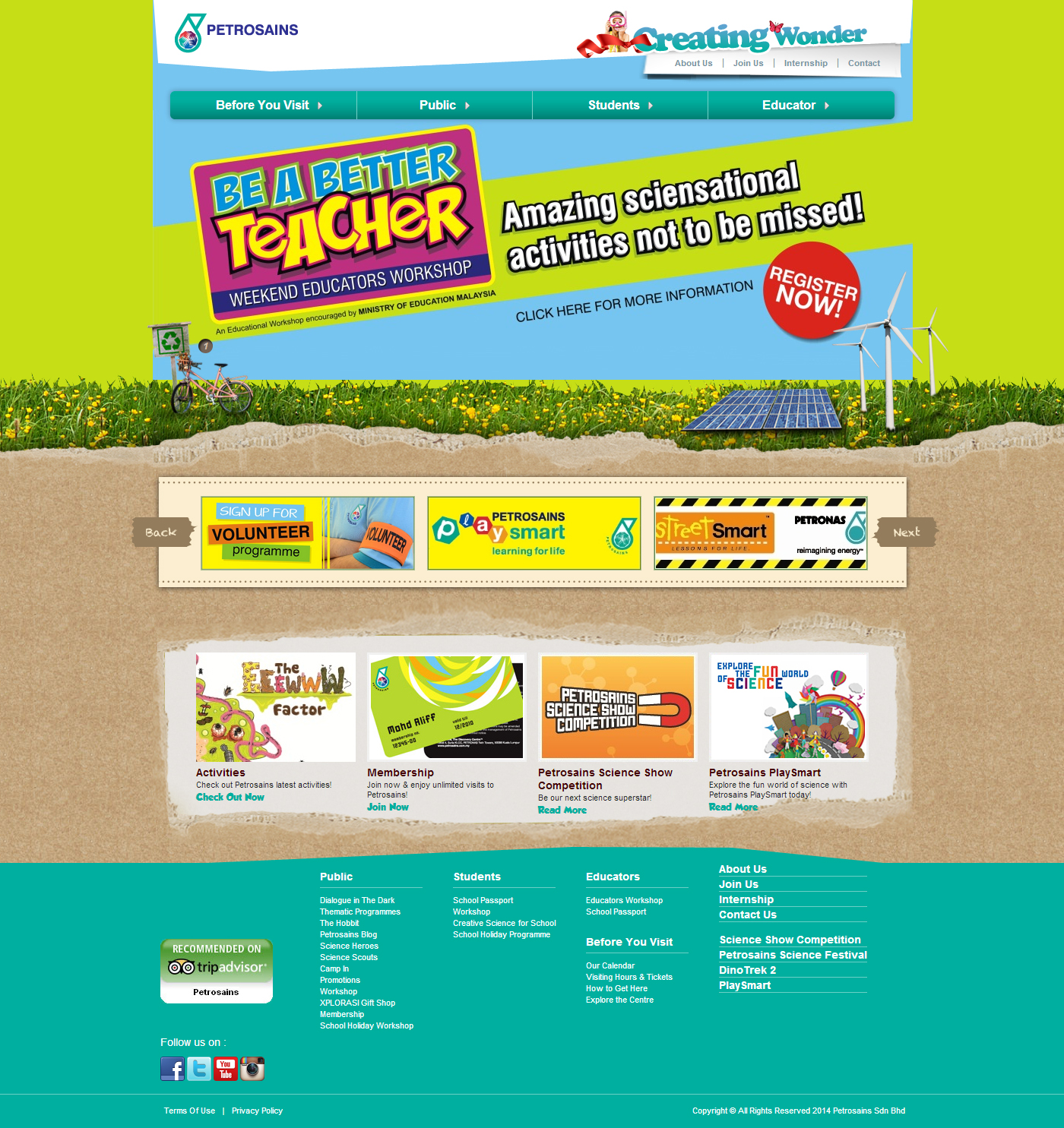 Petrosains Corporate Website
