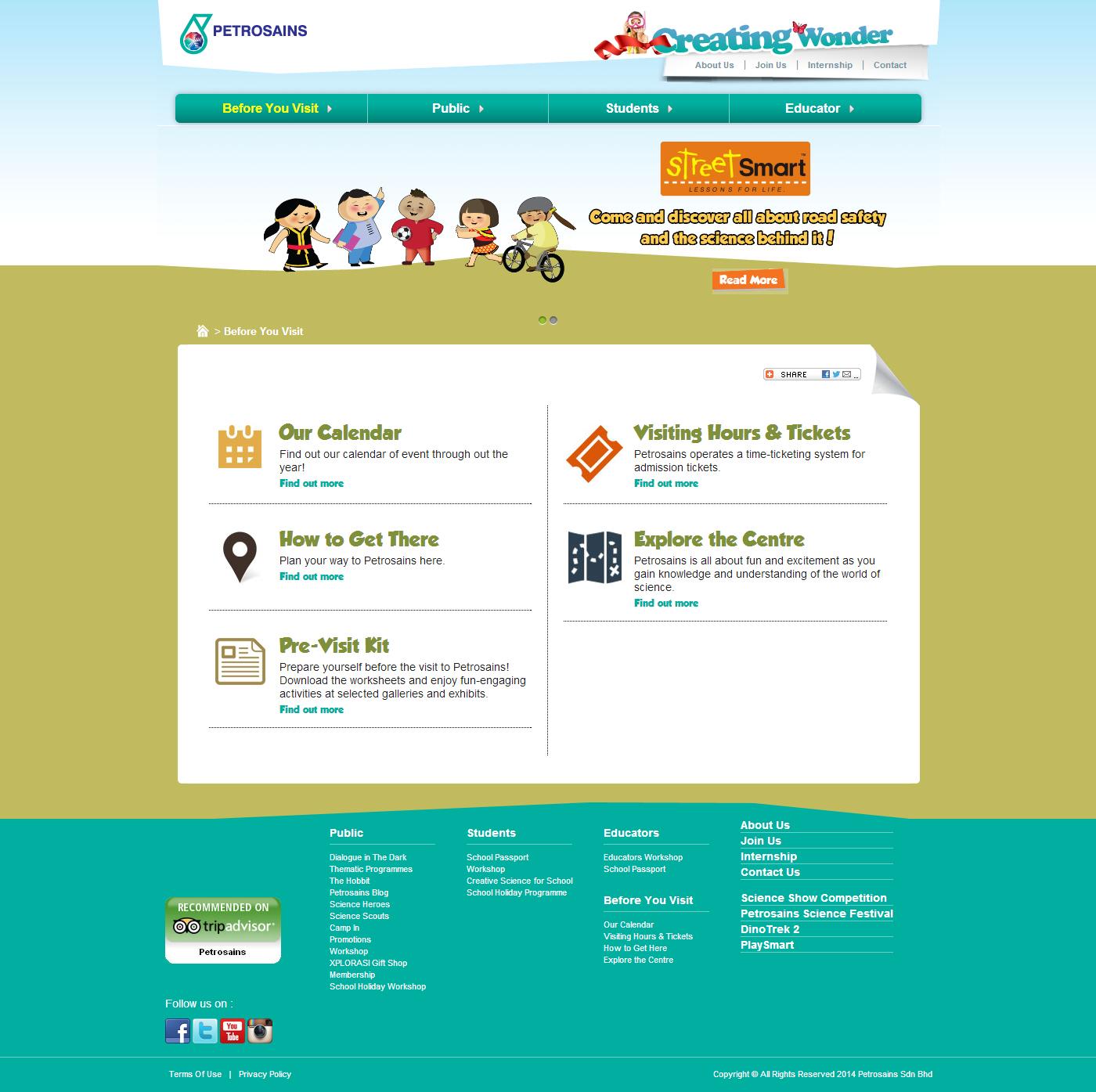 Petrosains Corporate Website