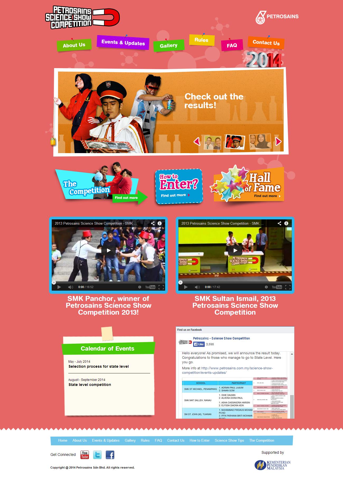 Petrosains Science Show Competition 2013 Website