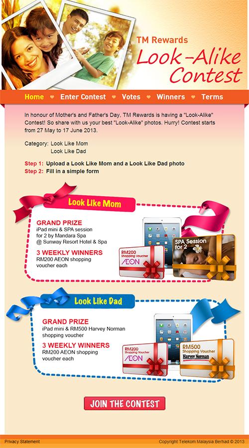 TM Rewards Look Alike Facebook Contest