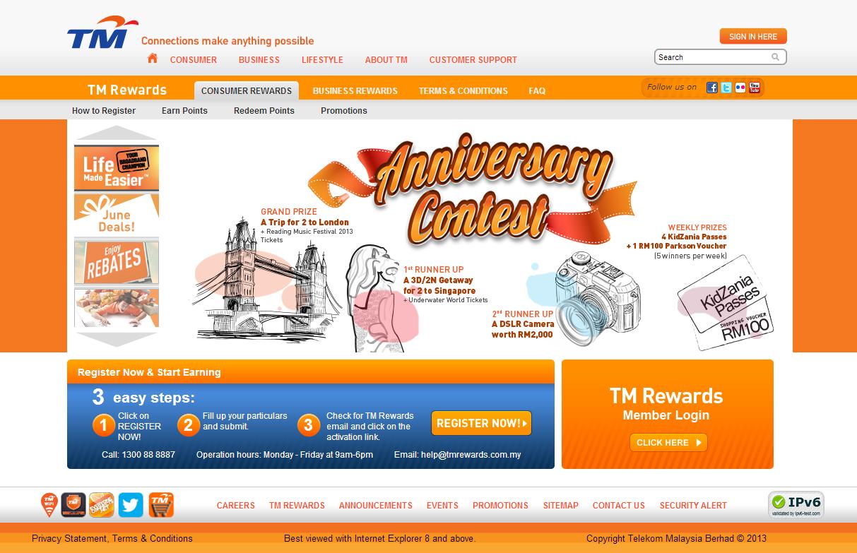 TM Rewards Website