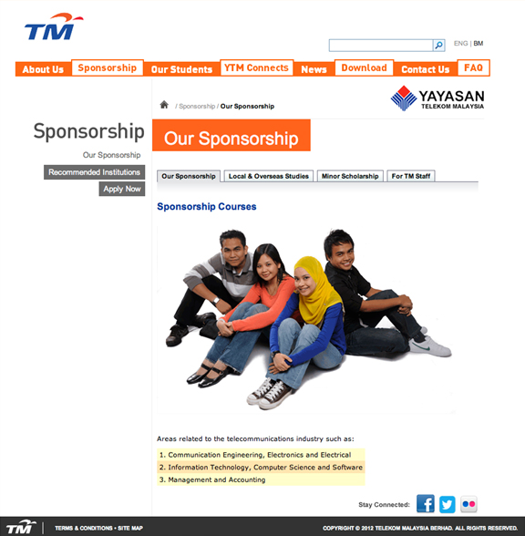 Yayasan TM Corporate Website